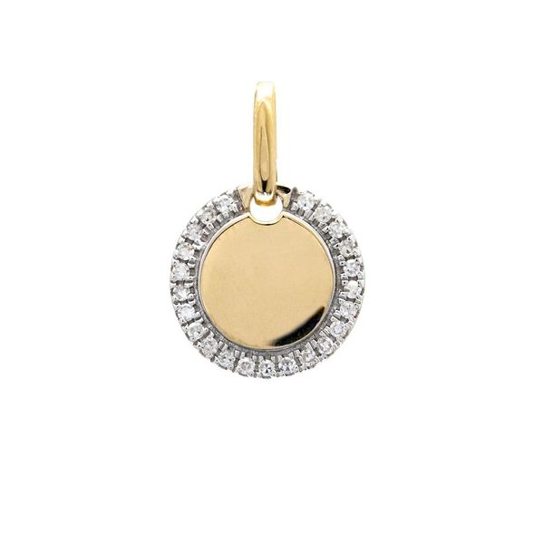 14K Yellow Gold Diamond Dog Tag Pendant Confer's Jewelers Bellefonte, PA