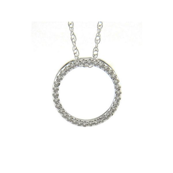14K White Gold and Diamond Circle Pendant Confer's Jewelers Bellefonte, PA
