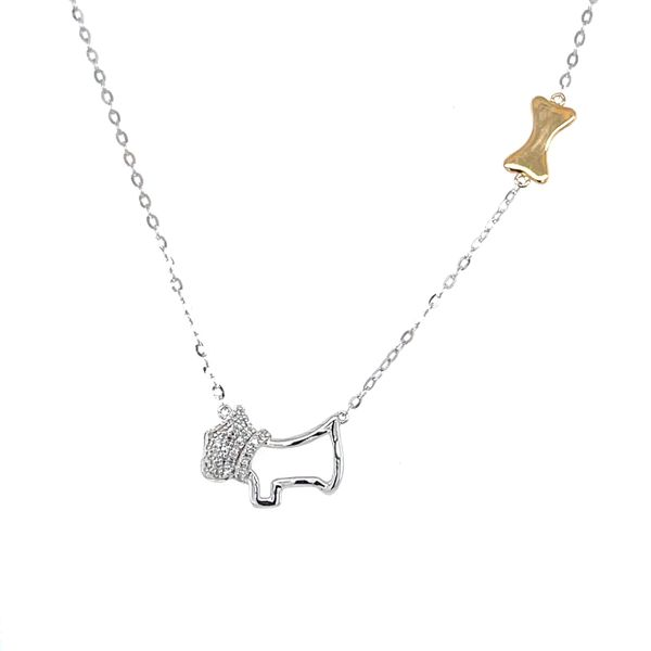 14k Two Tone Diamond Dog Station Necklace Confer's Jewelers Bellefonte, PA