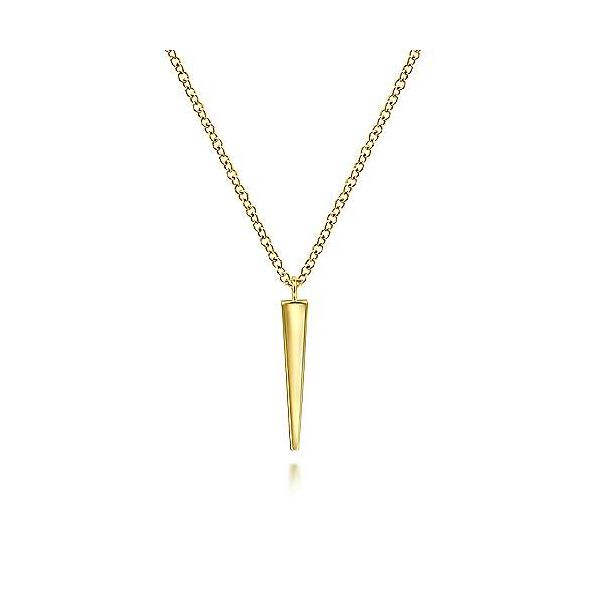 14K Yellow Gold Spike Pendant Necklace Confer's Jewelers Bellefonte, PA