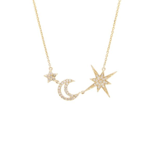 Moon with 2 Star Diamond Necklace Confer's Jewelers Bellefonte, PA