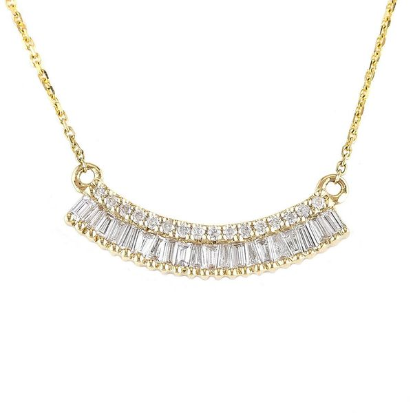 14k Yellow Gold Diamond Bar Necklace Confer's Jewelers Bellefonte, PA