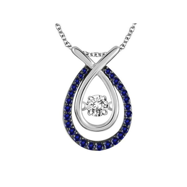 14K White Gold .50ctw Dancing Diamond Pendant Confer's Jewelers Bellefonte, PA
