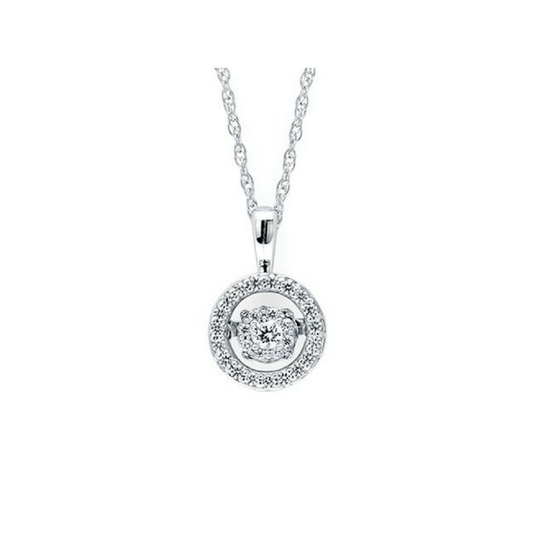 Sterling Silver .20ctw Dancing Diamond Pendant Confer's Jewelers Bellefonte, PA