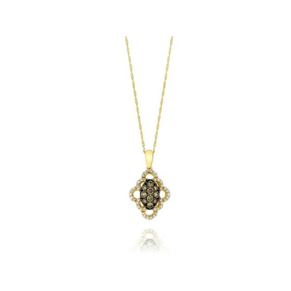LeVian 14K Gold Chocolate & Vanilla Diamond Pendant Confer's Jewelers Bellefonte, PA