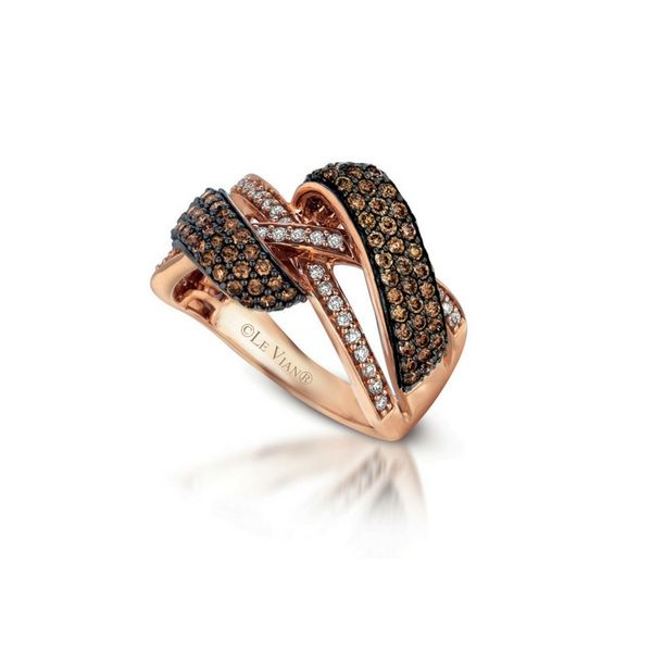 LeVian 14K Rose Gold Chocolate & White Diamond Ring Confer's Jewelers Bellefonte, PA