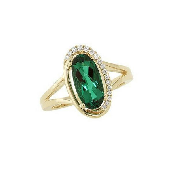 Chatham Lab Grown Emerald and Diamond Ring Confer's Jewelers Bellefonte, PA