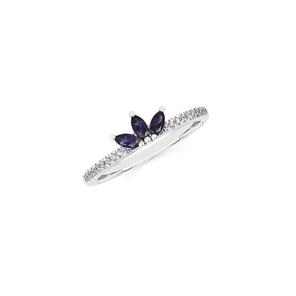 14k White Gold Sapphire and Diamond Fashion Ring Confer's Jewelers Bellefonte, PA