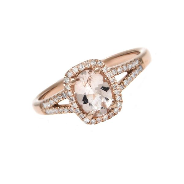 14K Rose Gold Morganite Ring Confer's Jewelers Bellefonte, PA
