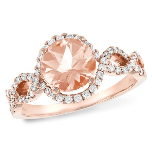 14k Rose Gold Morganite and Diamond Ring Confer's Jewelers Bellefonte, PA