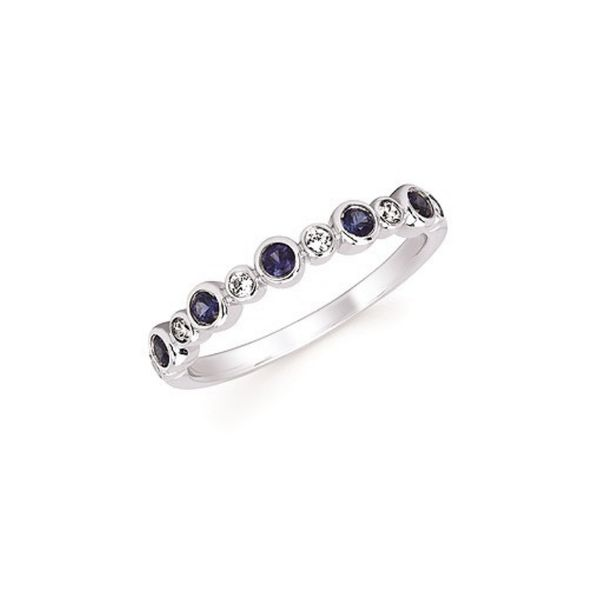 14k White Gold Stackable Birthstone Ring - September Confer's Jewelers Bellefonte, PA