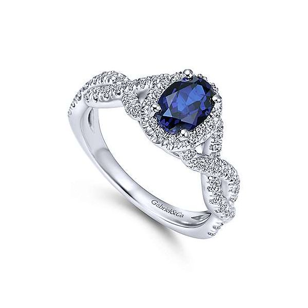 14k White Gold Diamond and Sapphire Engagement Ring Confer's Jewelers Bellefonte, PA