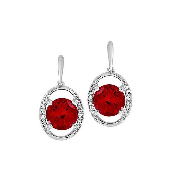 Chatham Created Ruby Drop Earrings Confer's Jewelers Bellefonte, PA