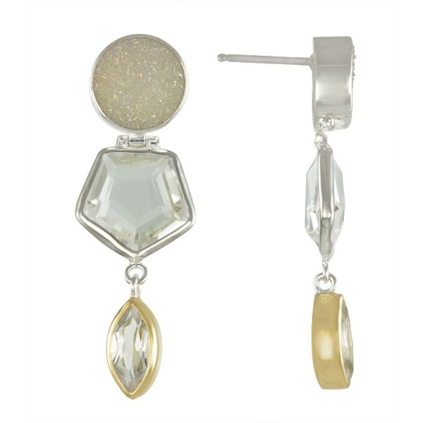 Sterling Silver and 22k Gold Vermeil Earrings Confer's Jewelers Bellefonte, PA
