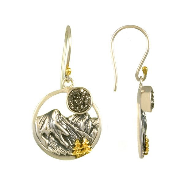 Sterling Silver Mountain and Tree Earrings Confer's Jewelers Bellefonte, PA