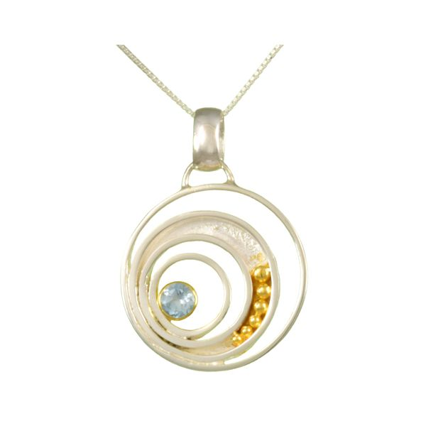 Sterling Silver and Gemstone Circle Pendant Confer's Jewelers Bellefonte, PA