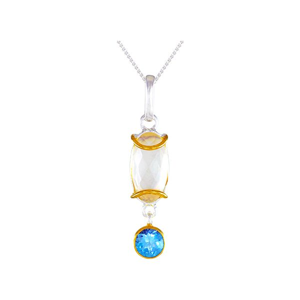 Sterling Silver Pearl and Gemstone Pendant Confer's Jewelers Bellefonte, PA