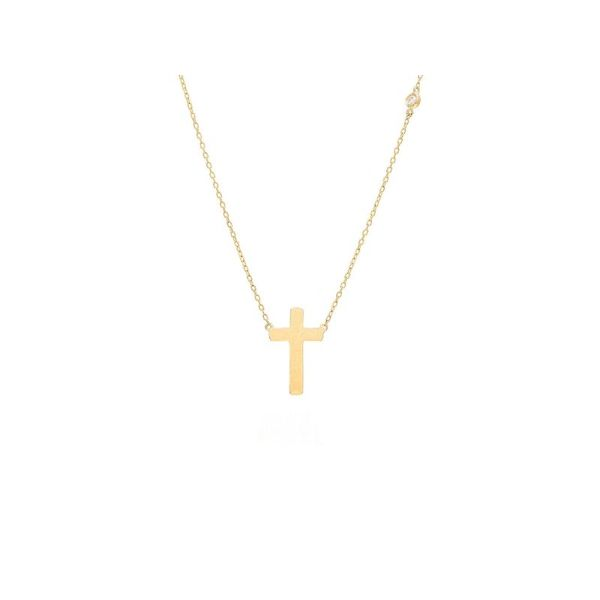 Gold Cross Necklace with Diamond Accent Confer's Jewelers Bellefonte, PA