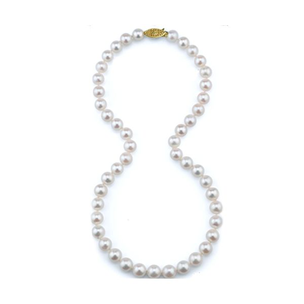 14k White Gold 7mm Pearl Strand Confer's Jewelers Bellefonte, PA