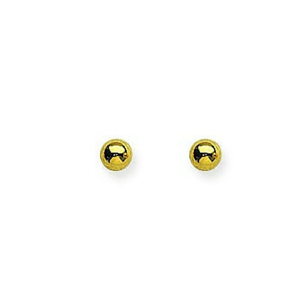 14K 3mm Ball Stud Earrings Confer's Jewelers Bellefonte, PA