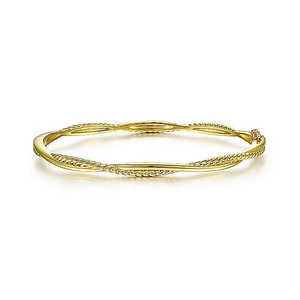 14K Yellow Gold Twisted Rope Bangle Bracelet Confer's Jewelers Bellefonte, PA