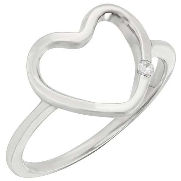 Sterling Silver Diamond Heart Ring Confer's Jewelers Bellefonte, PA