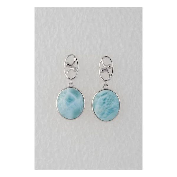 Sterling Silver Larimar Earrings Confer's Jewelers Bellefonte, PA