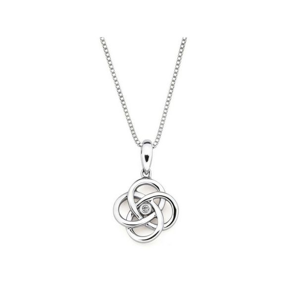Diamond Love Knot Pendant Sterling Silver Confer's Jewelers Bellefonte, PA