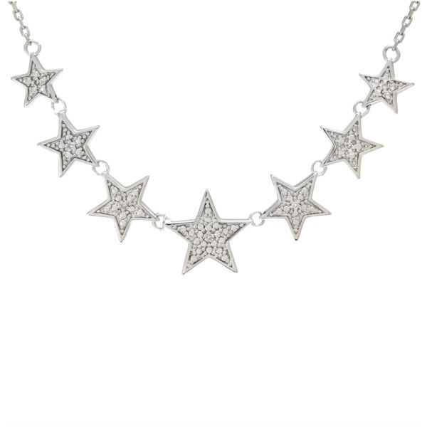 Sterling Silver 7 Star Diamond Necklace Confer's Jewelers Bellefonte, PA