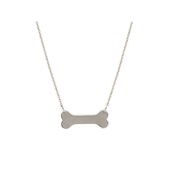 Sterling Silver Polished Dog Bone Necklace Confer's Jewelers Bellefonte, PA