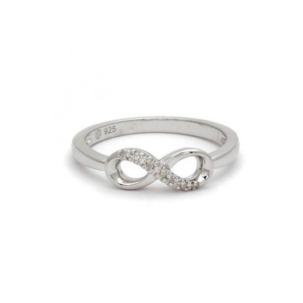 Sterling Silver and Diamond Infinity Ring Confer's Jewelers Bellefonte, PA