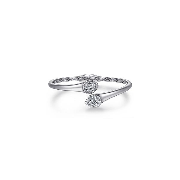 925 Sterling Silver Bypass Bangle with White Sapphire Pave Confer's Jewelers Bellefonte, PA