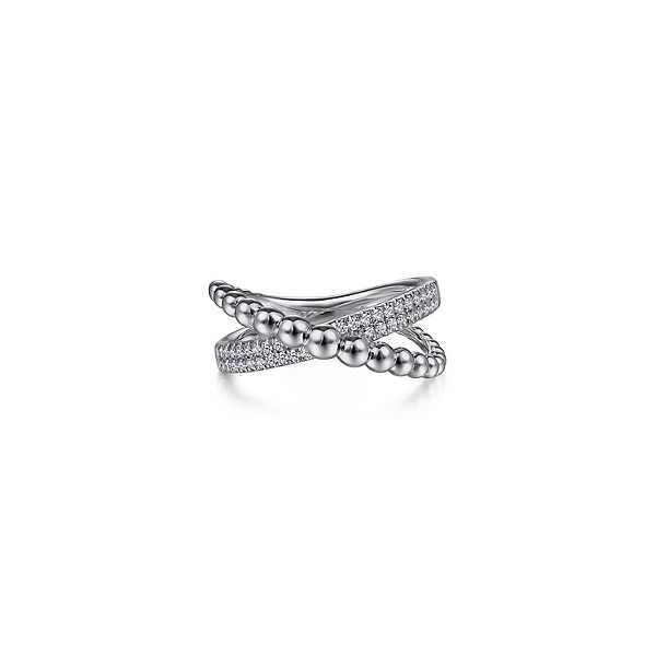 925 Sterling Silver White Sapphire Bujukan Criss Cross Ring Confer's Jewelers Bellefonte, PA