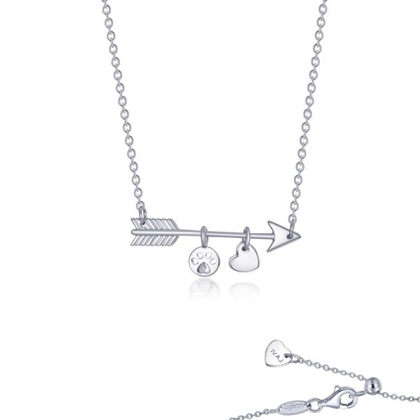 Lafonn Paw Print Love Necklace Confer's Jewelers Bellefonte, PA