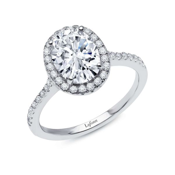Lafonn 2.26 CTW Halo Engagement Ring Confer's Jewelers Bellefonte, PA