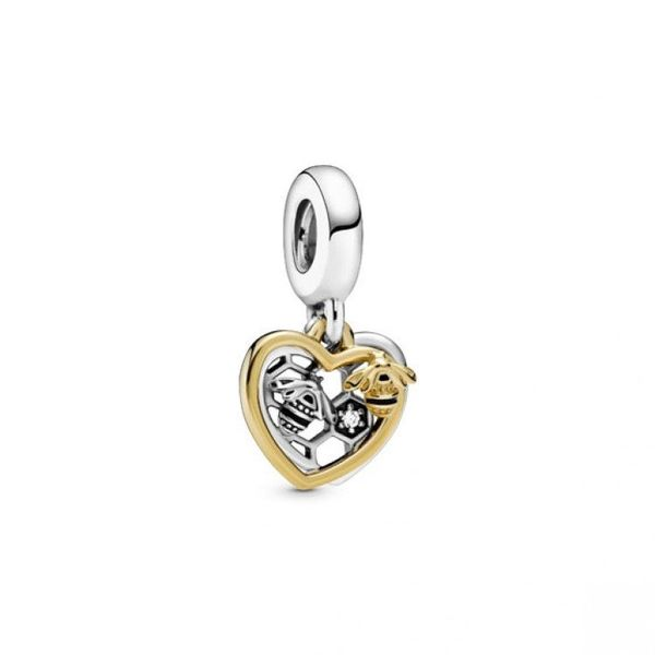 Hearts & Bees Dangle Charm - Pandora Shine Confer's Jewelers Bellefonte, PA