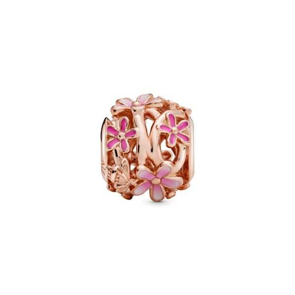 Openwork Pink Daisy Flower Charm - Pandora Rose Confer's Jewelers Bellefonte, PA
