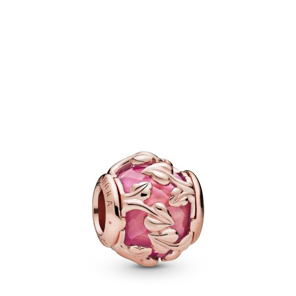 Pink Decorative Leaves Charm Confer's Jewelers Bellefonte, PA