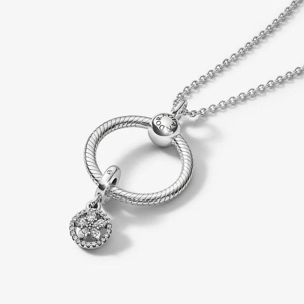 Sparkling Snowflake Pandora O Pendant Gift Set Image 2 Confer's Jewelers Bellefonte, PA