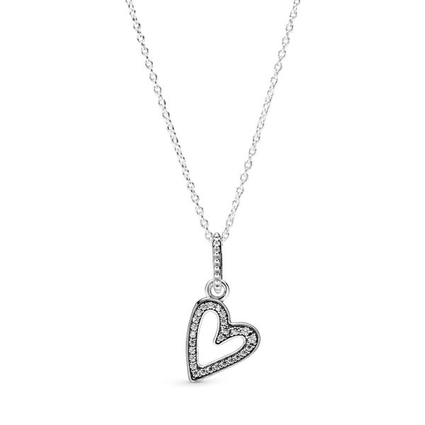 Sparkling Freehand Heart Pendant Necklace Confer's Jewelers Bellefonte, PA