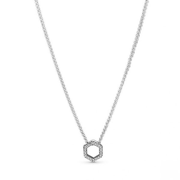 Sparkling Honeycomb Hexagon Collier Necklace Confer's Jewelers Bellefonte, PA
