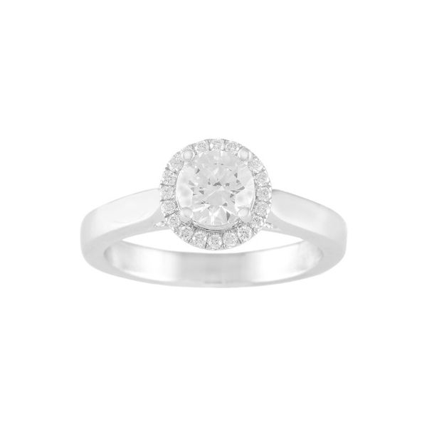 Classic Halo Diamond Engagement Ring (2/5 ct. tw.) Conti Jewelers Endwell, NY