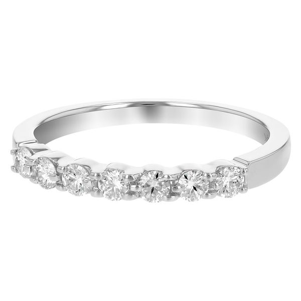 .33 CT. T.W. Diamond Wedding/Anniversary Band in 14K White Gold Image 3 Conti Jewelers Endwell, NY