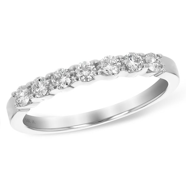 .33 CT. T.W. Diamond Wedding/Anniversary Band in 14K White Gold Conti Jewelers Endwell, NY