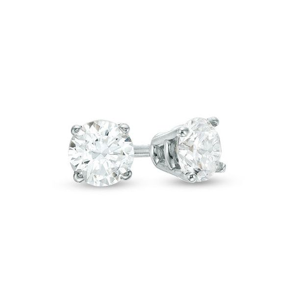 .40 CT. T.W. Diamond Solitaire Stud Earrings in 14K White Gold Conti Jewelers Endwell, NY