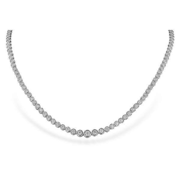 2 cttw Diamond Tennis Necklace in 14k White Gold Conti Jewelers Endwell, NY