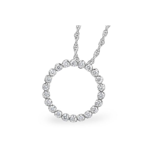 1/2 CT. T.W. Diamond Circle Pendant in 14k White Gold Conti Jewelers Endwell, NY
