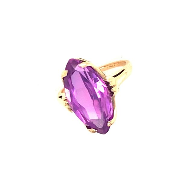 Marquise Amethyst Ring set in 14k Yellow Gold Conti Jewelers Endwell, NY