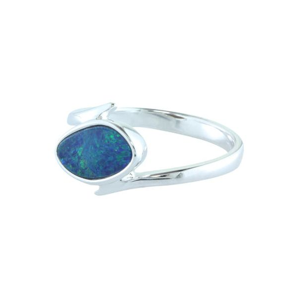 Sterling Silver Australian Green Opal Ring Conti Jewelers Endwell, NY