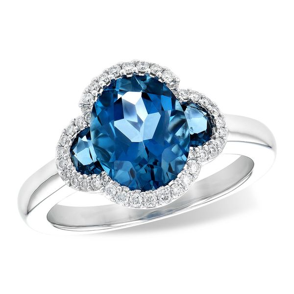 3.20 cttw London Blue Topaz & Diamond Ring in 14k White Gold Conti Jewelers Endwell, NY